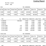 Costing Report